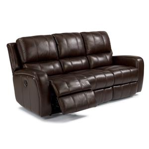 Casual Double Reclining Sofa with Power