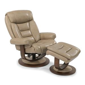 Modern Zero-Gravity Reclining Chair and Ottoman Set