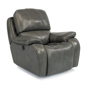 Power Gliding Recliner with Nailheads and USB Charging Port
