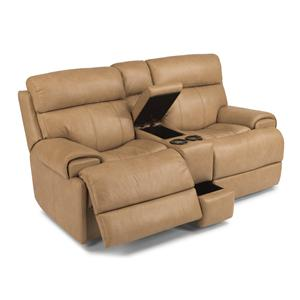 Flexsteel Latitudes-Margot Power Reclining Loveseat with Console