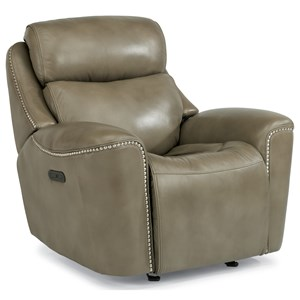 Power Glider Recliner with Adjustable Headrest and USB Port