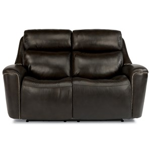 Power Reclining Loveseat with Adjustable Headrest and USB Ports