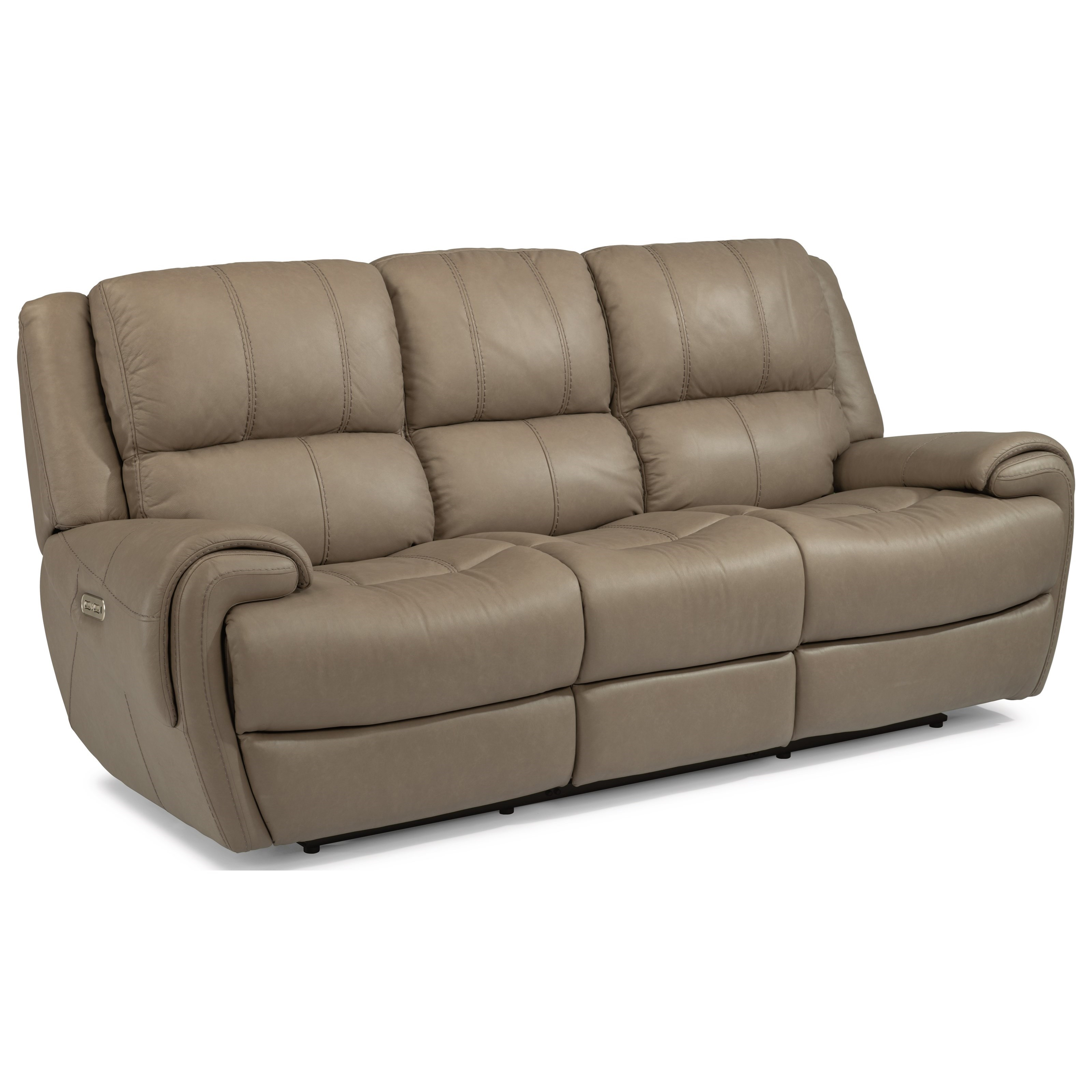 Latitudes-Nance Power Reclining Sofa with Power Headrests by Flexsteel at Arwood's Furniture