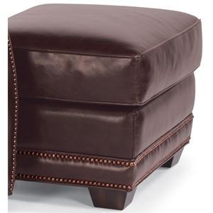 Flexsteel Latitudes-Raleigh Leather Ottoman
