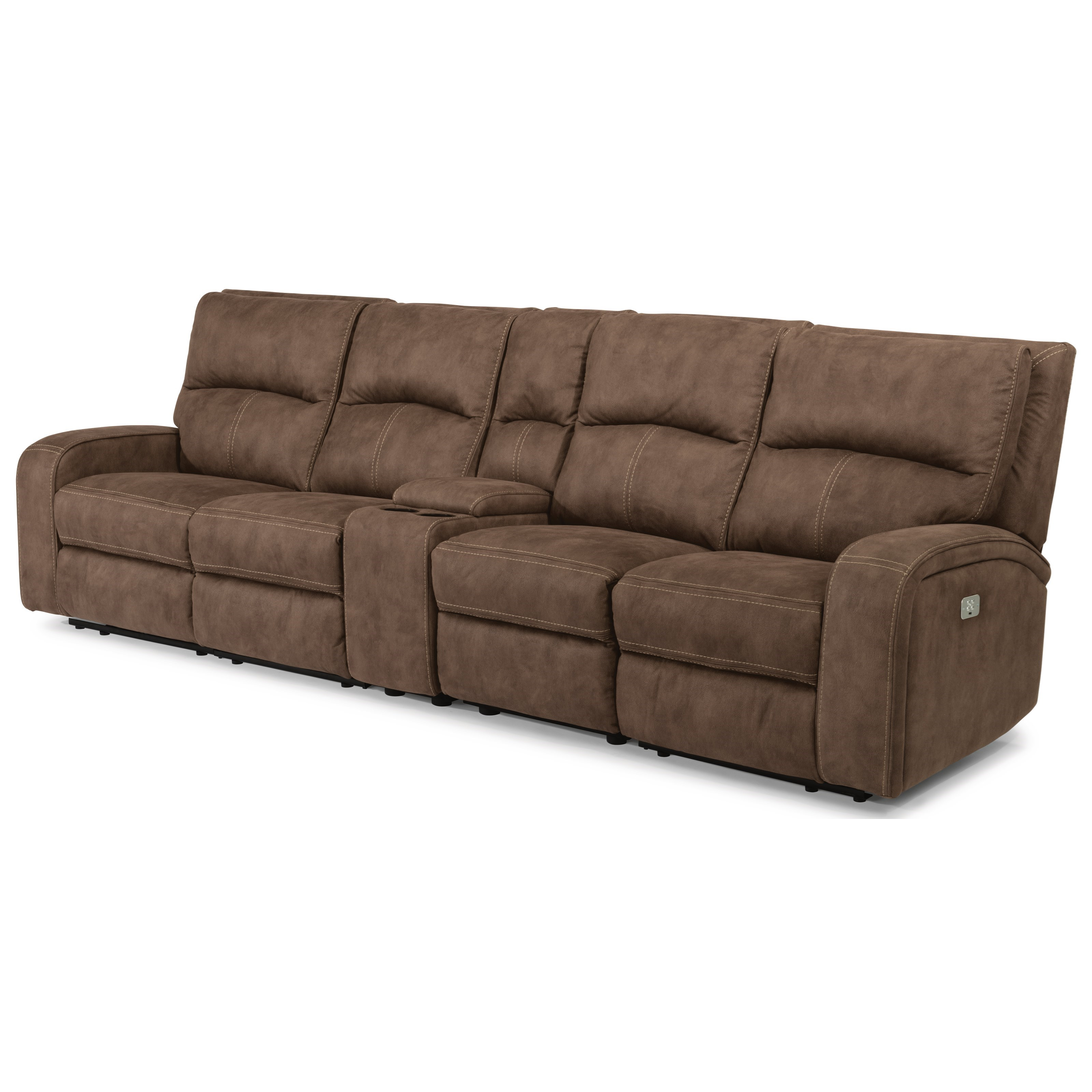 Latitudes - Nirvana Power Reclining Long Sectional by Flexsteel at Walker's Furniture