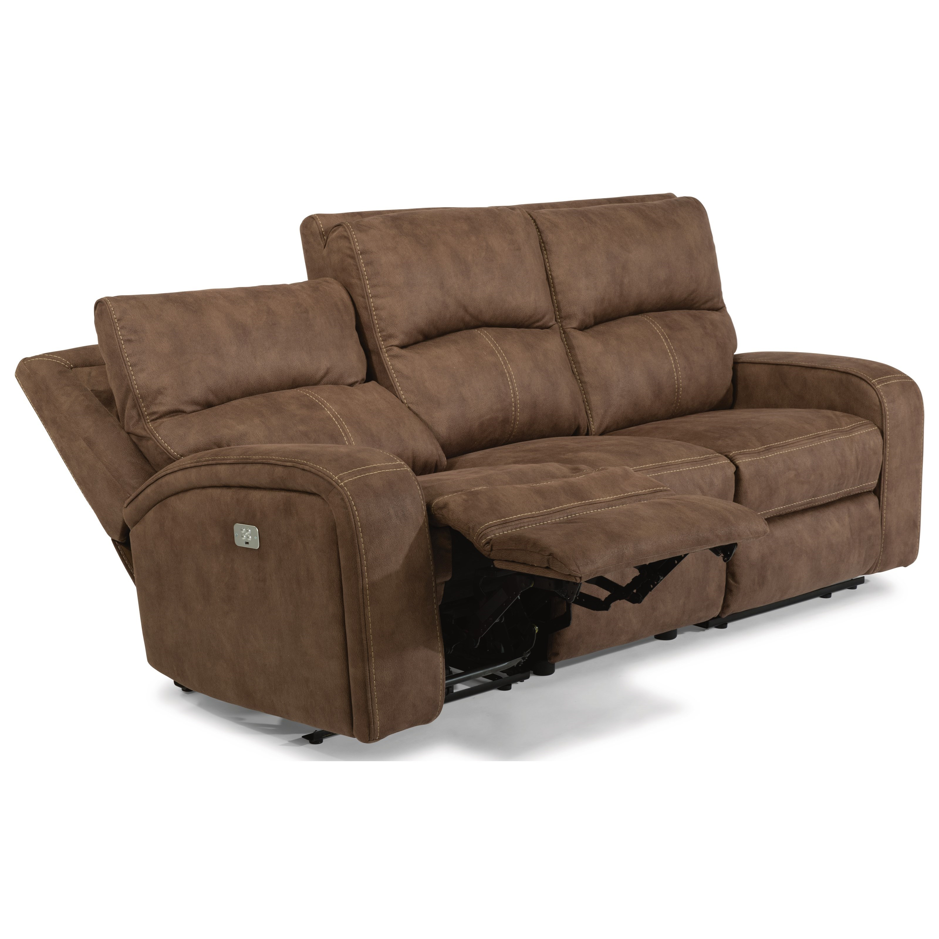 Latitudes - Nirvana Power Reclining Sofa with Power Headrests by Flexsteel at Walker's Furniture