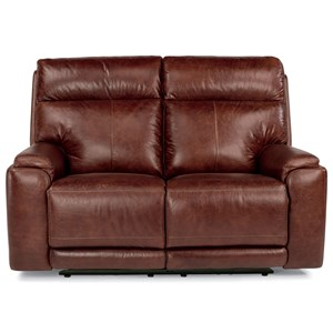 Power Reclining Love Seat with USB Ports and Adjustable Headrest