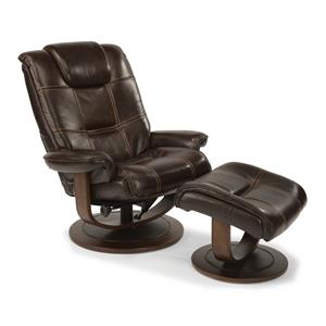 Spencer Modern Zero-Gravity Recliner and Ottoman Set
