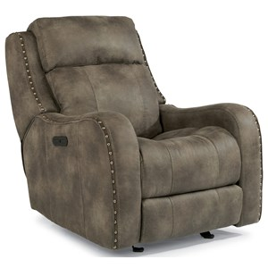 Power Glider Recliner with Power Adjustable Headrest and USB Port