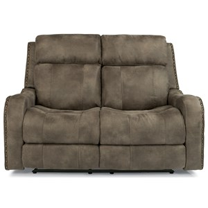 Power Reclining Lay-Flat Loveseat with Adjustable Headrests and USB Charging Ports