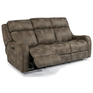 Power Reclining Lay-Flat Sofa with Adjustable Headrests and USB Charging Ports
