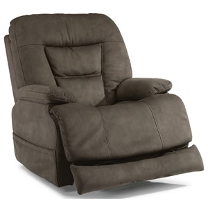 Casual Power Recliner with Power Headrest and Extending Footrest