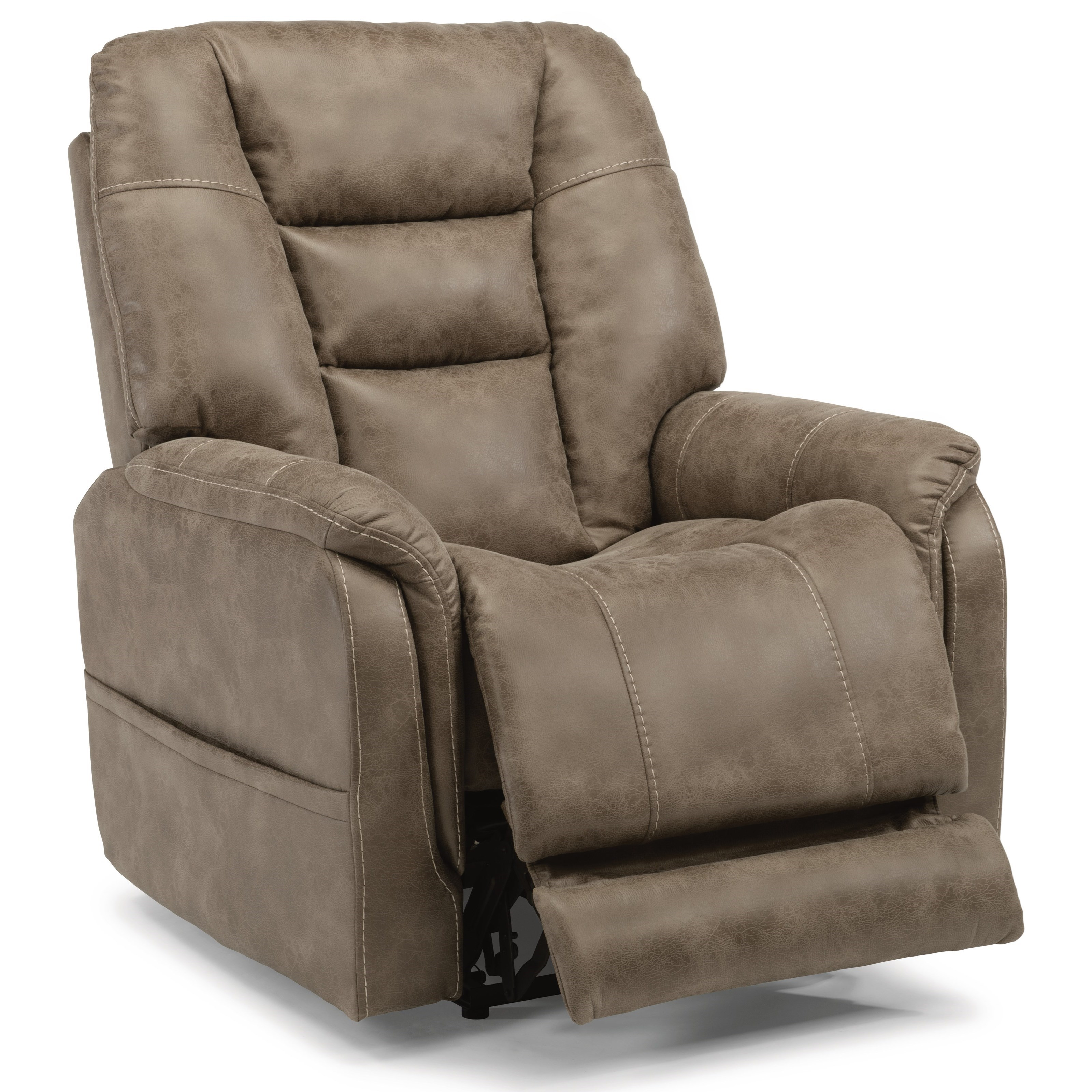 Latitudes-Theo Power Recliner with Power Headrest by Flexsteel at Walker's Furniture
