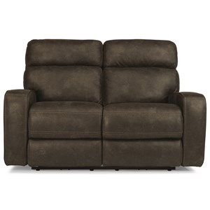 Power Reclining Loveseat with USB Port and Power Adjustable Headrest