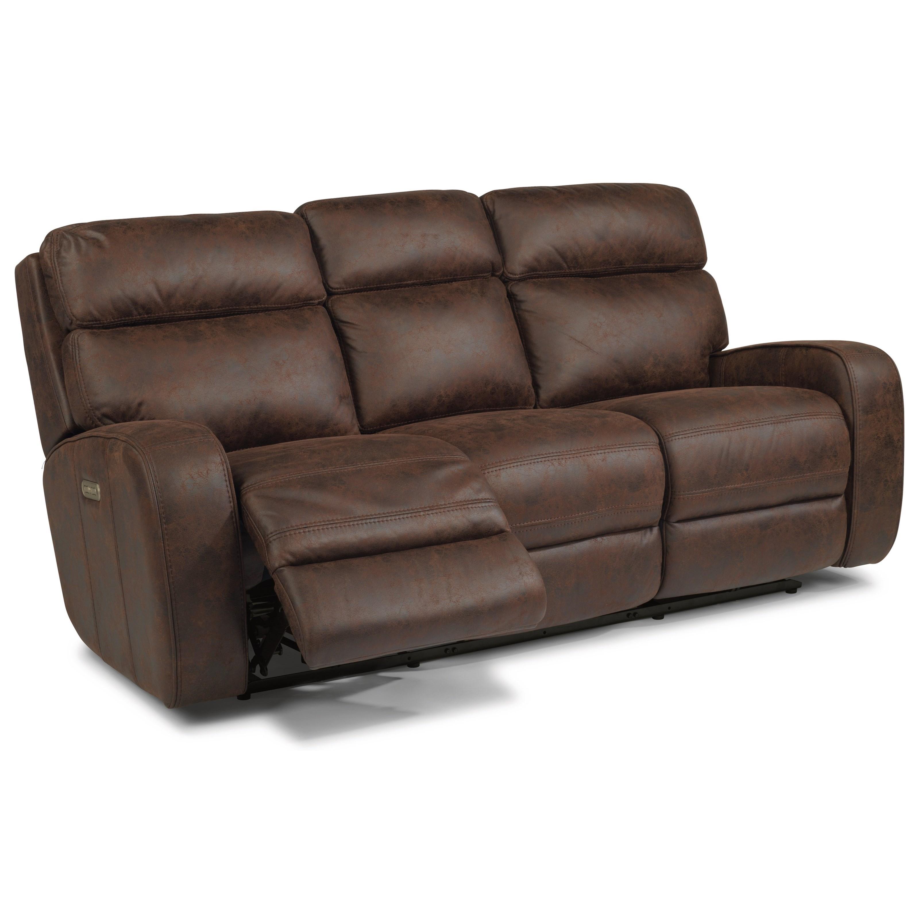 Latitudes - Tomkins Park Reclining Sofa by Flexsteel at Walker's Furniture
