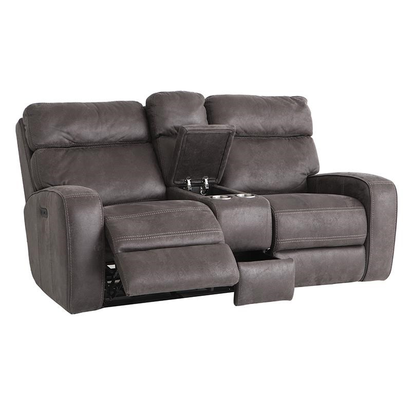Power Gliding Reclining Loveseat with Cupholders and Adjustable Headrests