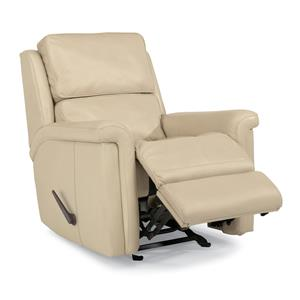 Modern Rocker Recliner with Folded Pillow Arms