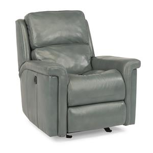 Modern Power Glider Recliner with Folded Pillow Arms