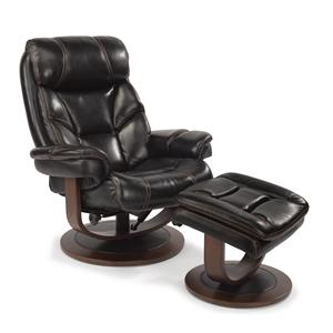 Modern Zero-Gravity Reclining Chair and Ottoman Set