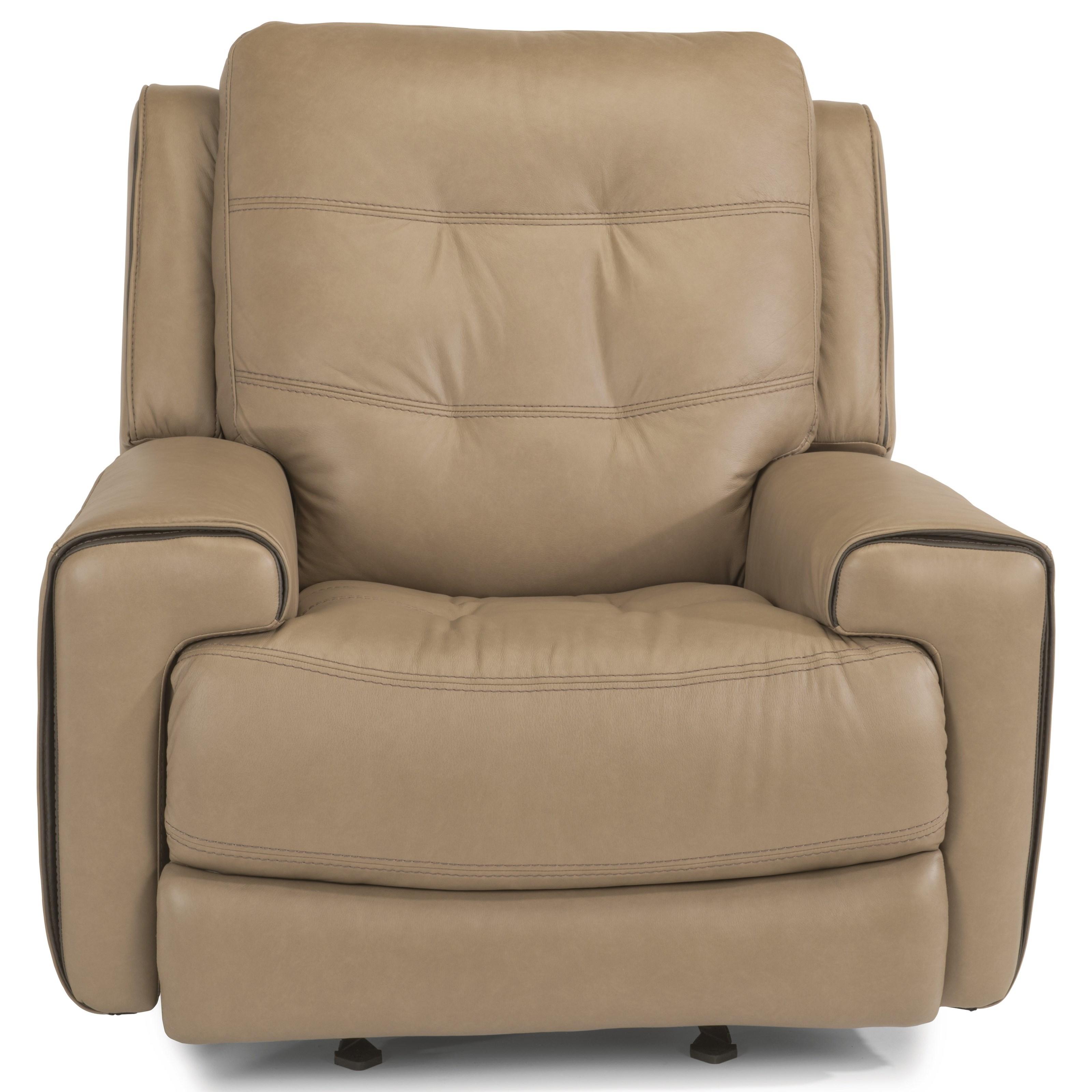 Latitudes-Wicklow PWR Gliding Leather Recliner w/PWR Headrest by Flexsteel at Walker's Furniture