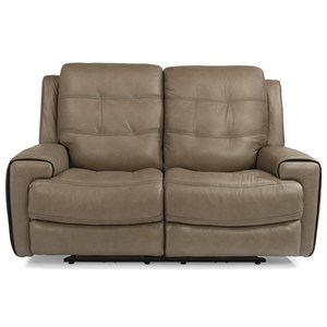 Power Lay-Flat Reclining Loveseat with Power Tilt Headrest and USB Ports