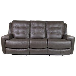 Power Reclining Lay-Flat Sofa with Drop-Down Table and Power Tilt Headrest