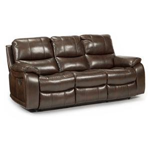 Flexsteel Latitudes - Woodstock Double Reclining Power Sofa