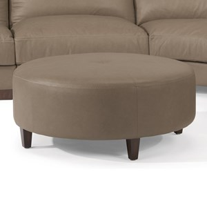 Contemporary Round Cocktail Ottoman