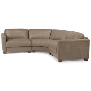 Contemporary 4 Seat Rounded Sectional