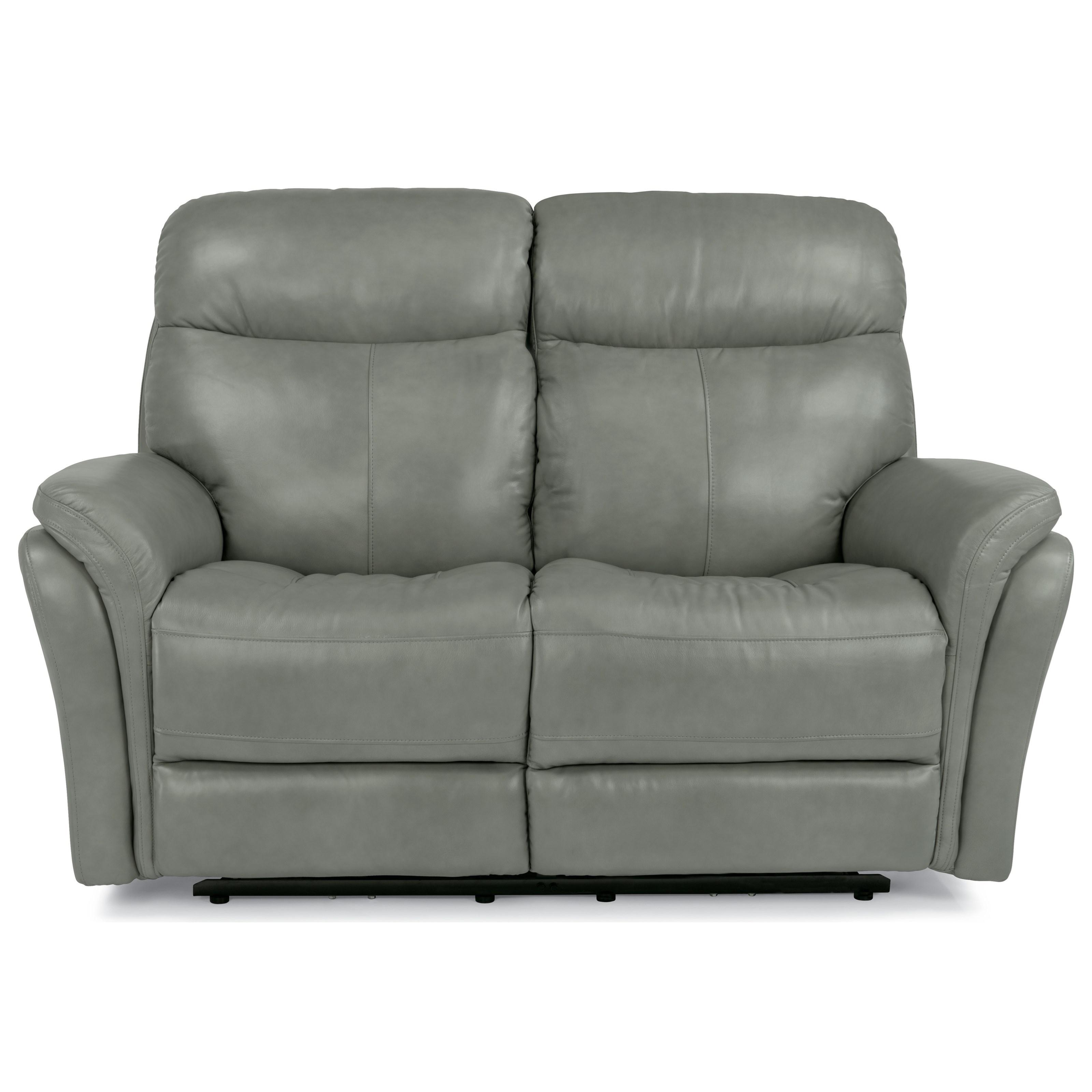Latitudes-Zoey Power Reclining Love Seat w/ Power Headrest by Flexsteel at Northeast Factory Direct
