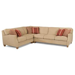Three Piece Sectional Sofa with LAF Loveseat