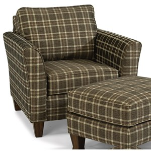 Transitional Chair with Flared Arms