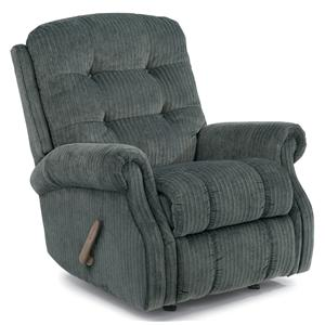 Casual Button Tufted Rocking Recliner (No Nailheads)