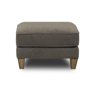 Upholstered Ottoman with Reversible Seat Cushions and Welt Cord Accent