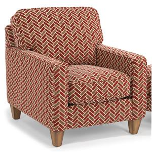 Upholstered Chair with Reversible Seat Cushions and Welt Cord Accent