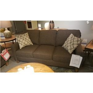 Stationary Sofa with Reversible Seat Cushions and Welt Cord Accent
