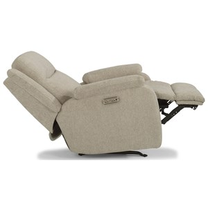 Casual Power Rocking Recliner with Power Headrest