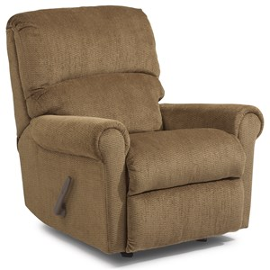 Rocker Recliner with Rolled Arms