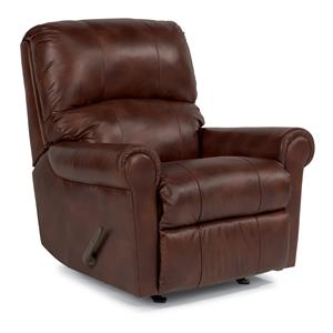 Swivel Glider Recliner with Rolled Arms