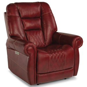 Traditional Power Recliner with Power Headrest and Lumbar Support