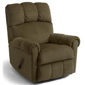 Casual Rocker Recliner with Channel Tufted Back