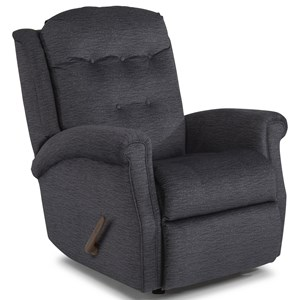 Transitional Manual Recliner with Tufted Back