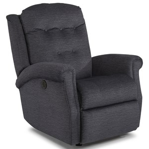 Transitional Power Rocking Recliner with Tufted Back