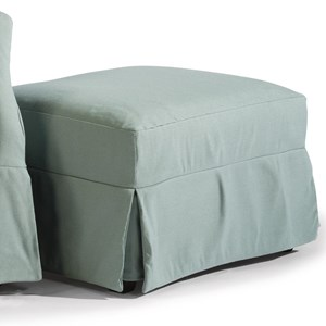Casual Slipcovered Ottoman