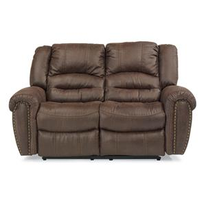 Reclining Loveseat with Nailhead Studs