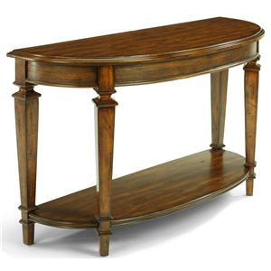 Half Moon Traditional Sofa Back Table