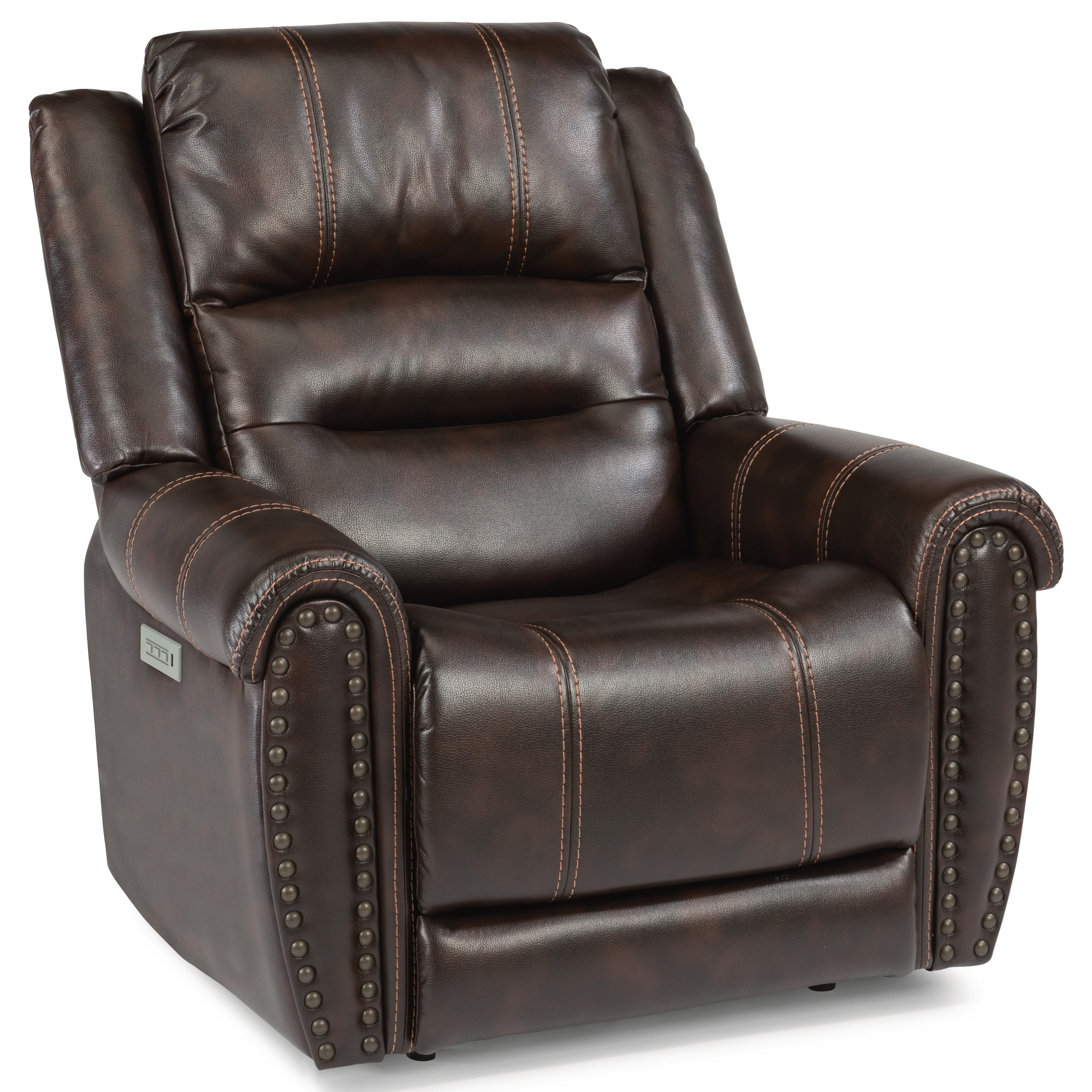 Latitudes - Oscar Power Recliner with Power Headrest by Flexsteel at Walker's Furniture