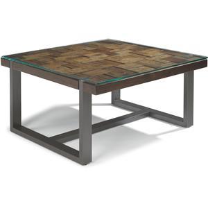 Flexsteel Patchwork Square Cocktail Table