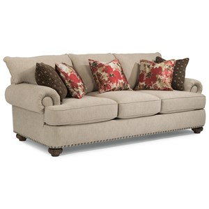 Stationary Sofa with Nailhead Trim