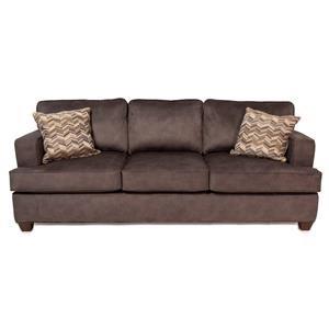 Contemporary Sofa w/ Track Arms